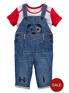 ladybird-baby-boys-panda-denim-dungarees-and-t-shirt-set