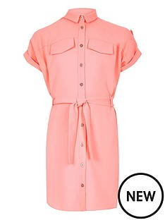 river-island-girls-belted-shirt-dress