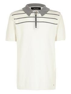 river-island-boys-stripe-knitted-zipped-polo-shirt