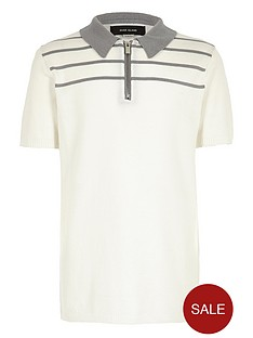 river-island-boys-stripe-knitted-zipped-polo-shirt