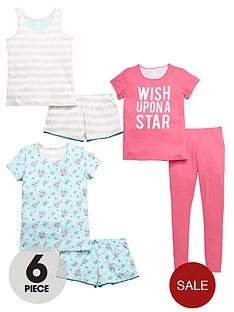 v-by-very-girls-pyjamas-set-6-piece