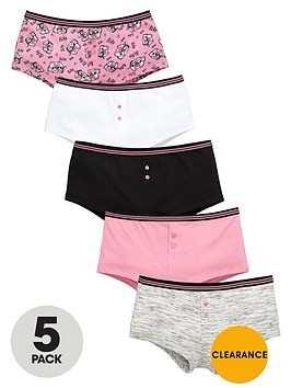 v-by-very-girls-pug-print-shortiesnbspbriefs-5-pack