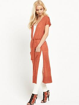 river-island-longline-split-side-knitted-cardigan