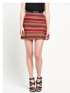 river-island-aztec-belted-mini-skirt