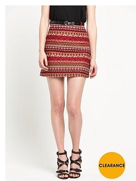 river-island-aztec-belted-mini-skirt