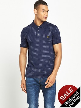 lyle-scott-square-dot-polo-shirt