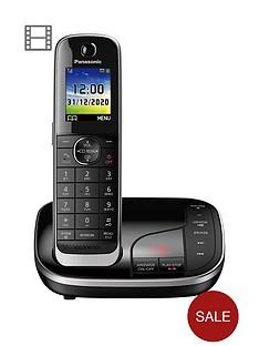 panasonic-kx-tgj320ebnbspsingle-cordless-telephone-with-answering-machine-black