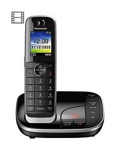 panasonic-kx-tgj320ebnbspsingle-cordless-telephone-with-answering-machine-black