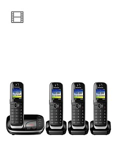 panasonic-kx-tgj324ebnbspquad-cordless-telephone-with-answering-machine-black