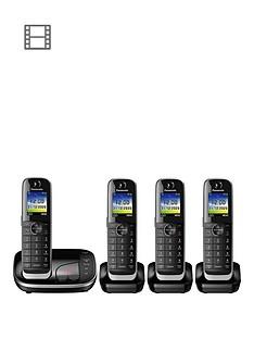 panasonic-kx-tgj324ebnbspquad-cordless-telephone-with-answering-machine-black