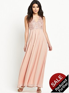 ax-paris-crotchet-front-maxi-dress
