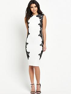 ax-paris-cream-bodycon-dress