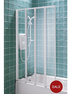 aqualux-4-fold-shower-screen-white