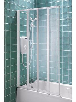 aqualux-4-fold-shower-screen-white