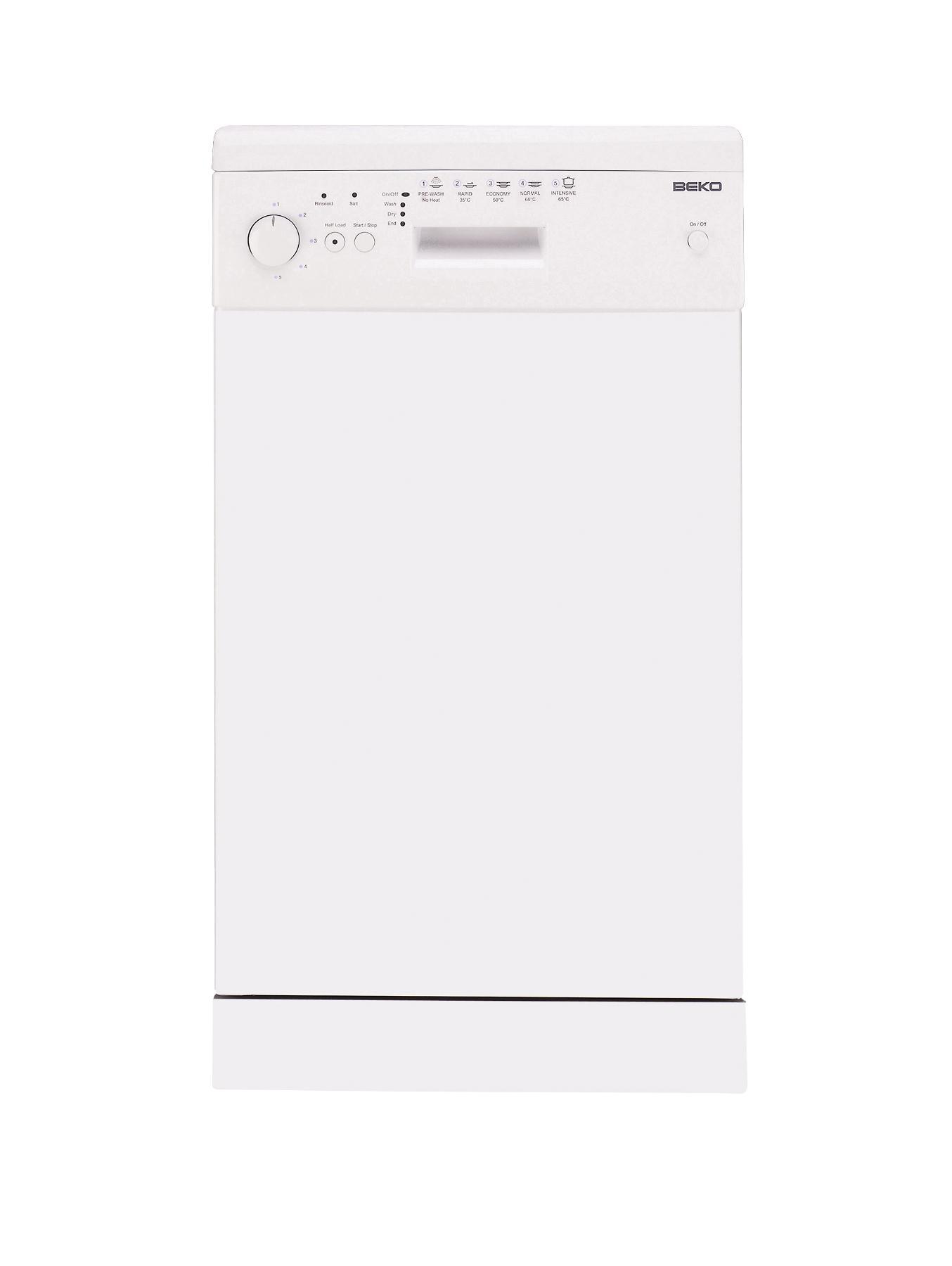 10 Place Slimline Dishwasher - White