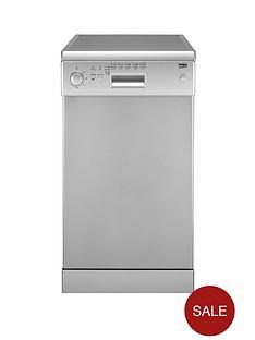 beko-de2542fs-10-place-slimline-dishwasher-silver
