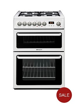 hotpoint-hag60p-60-cm-double-oven-fsd-gas-cooker-white