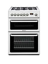 HAG60P 60cm Double Oven Gas Cooker with FSD - White