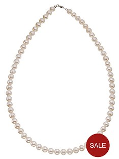 love-gem-9-carat-white-gold-single-strand-pearl-necklace