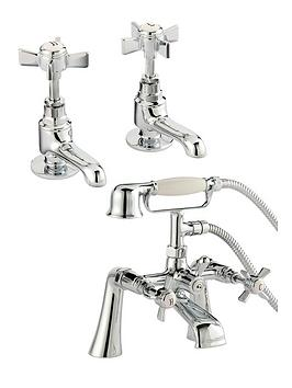 bristan-traditional-basin-taps-and-bathshower-mixer-set