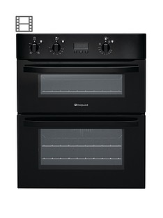 hotpoint-uh53ks-60-cm-built-under-electric-double-oven-black