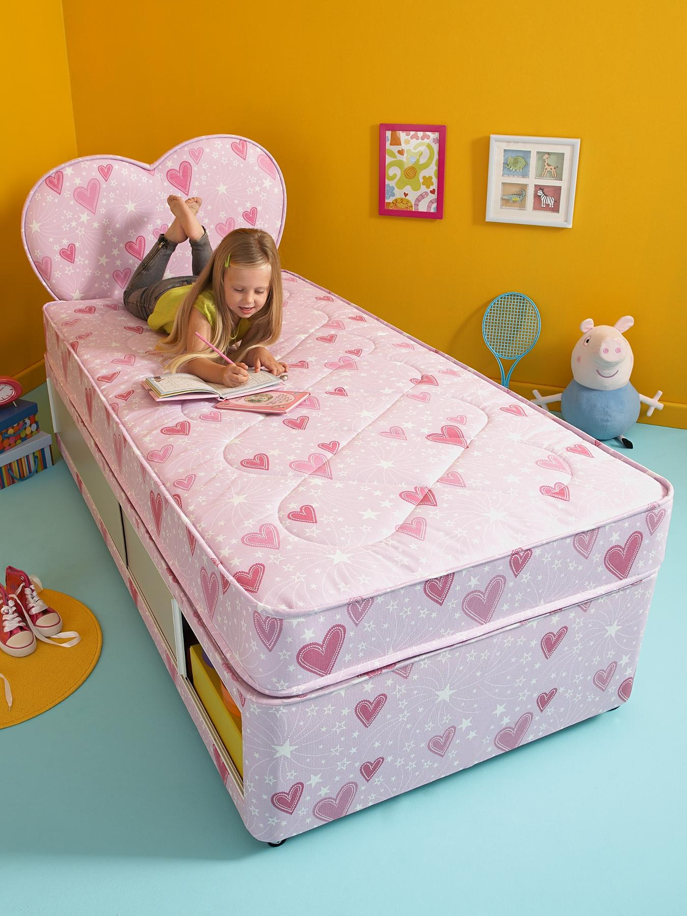 Patterned Kids Divan Bed and FREE Headboard at Littlewoods