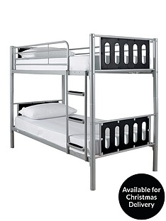 kidspace-cyber-bunk-bed-frame-2-premium-mattresses-buy-and-save