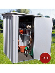 yardmaster-39-x-52ft-single-door-metal-pent-roof-shed