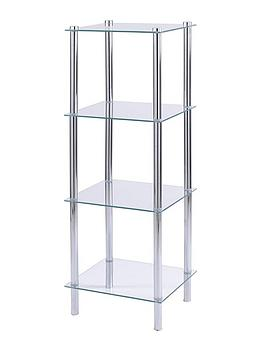 aquarius-4-tier-glass-bathroom-shelving-unit