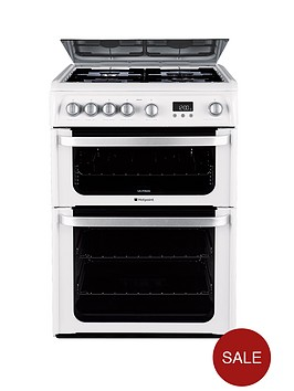 hotpoint-hug61p-60-cm-double-oven-gas-cooker-white