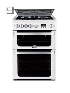 hotpoint-ultima-hug61p-60cm-double-oven-gas-cooker-with-fsd-white