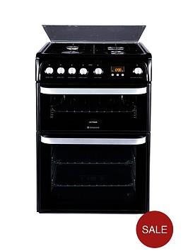 hotpoint-hug61k-60-cm-double-oven-gas-cooker-black