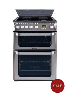 hotpoint-hug61x-60-cm-double-oven-gas-cooker-stainless-steel