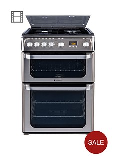 hotpoint-ultima-hug61x-60cm-double-oven-gas-cooker-with-fsd-stainless-steel