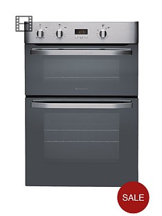hotpoint-newstyle-dhs53xs-built-in-double-electric-oven-stainless-steel