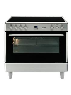 flavel-fl95crx-single-oven-electric-range-cooker-stainless-steel