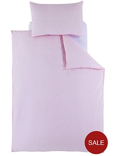 ladybird-plain-toddler-bedding-pink