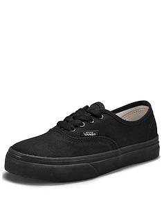 vans-authentic-junior-plimsolls-black