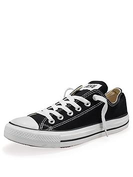 Converse All Star Ox Junior Kids Plimsolls  Black