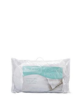 downland-single-hollowfibre-v-shaped-support-pillow-with-free-pillowcase