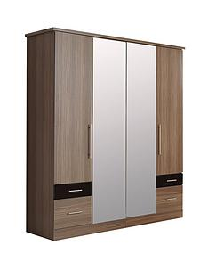 consort-eclipse-4-door-4-drawer-mirrored-wardrobe