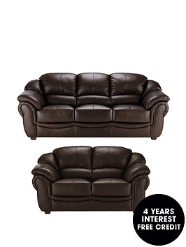 Napoli 3 seater plus 2 seater leather sofa buy and save for Sofa 0 interest free credit