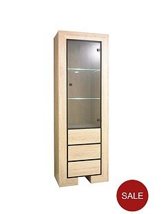 melke-3-drawer-glass-door-display-unit