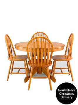 kentucky-107-cm-round-dining-table-4-chairs-oak-effect-whitenatural
