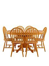 Kentucky 107-150 cm Extending Dining Table + 6 Chairs