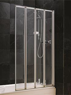 aqualux-4-fold-shower-screen-silver