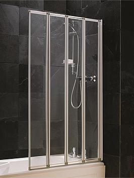 Aqualux 4 Fold Shower Screen  Silver