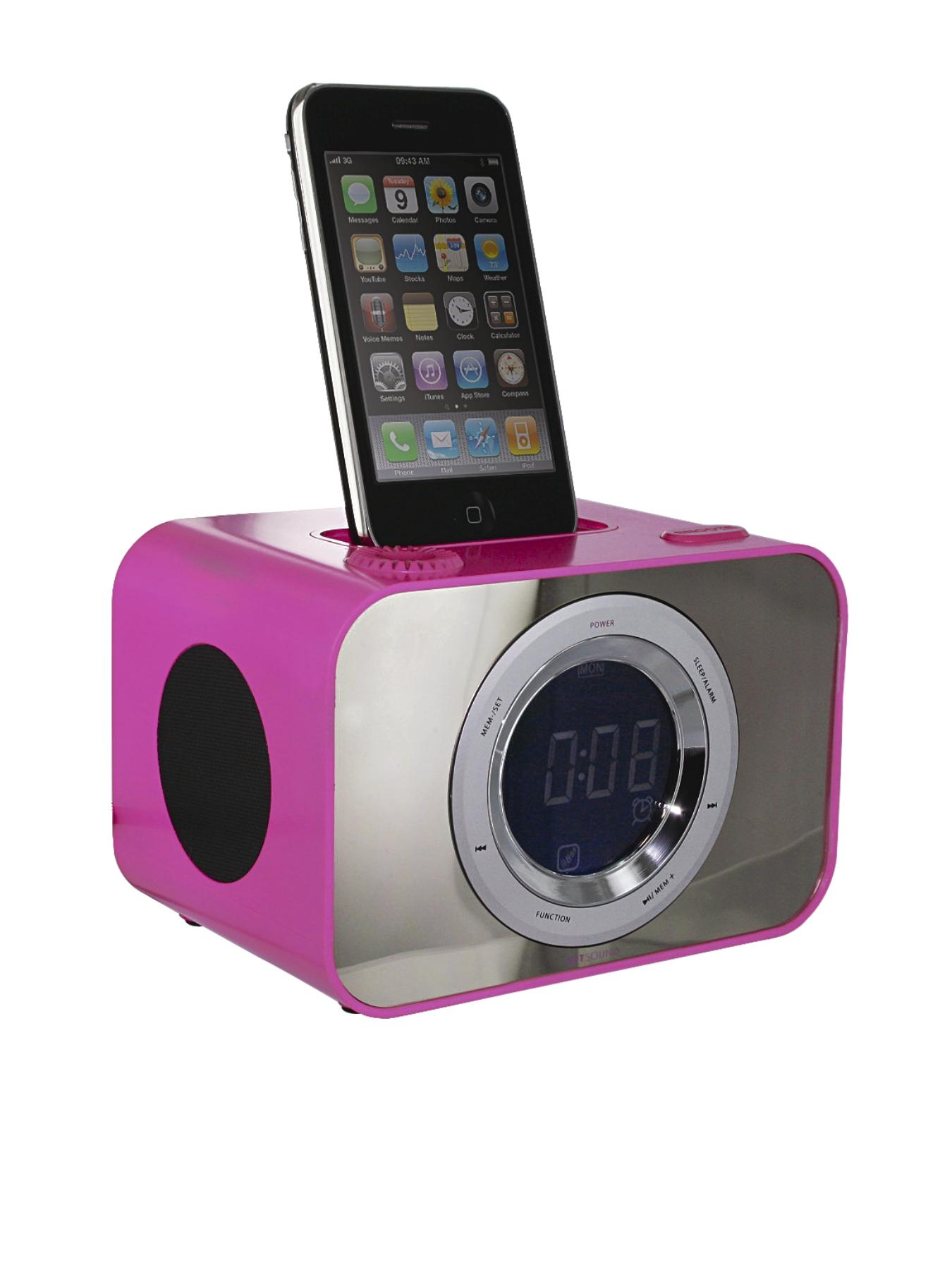 Clock Dock - Punk Pink at Littlewoods