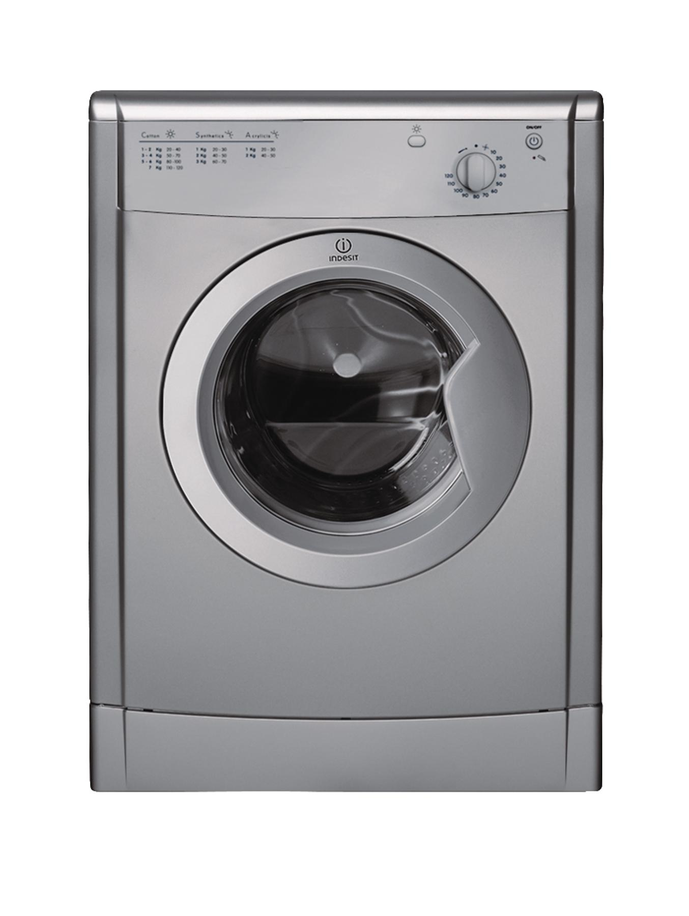 Indesit  7kg Vented Tumble Dryer - Silver