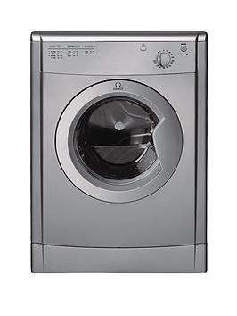 Indesit Ecotime Idv75S 7Kg Load Vented Tumble Dryer  Silver
